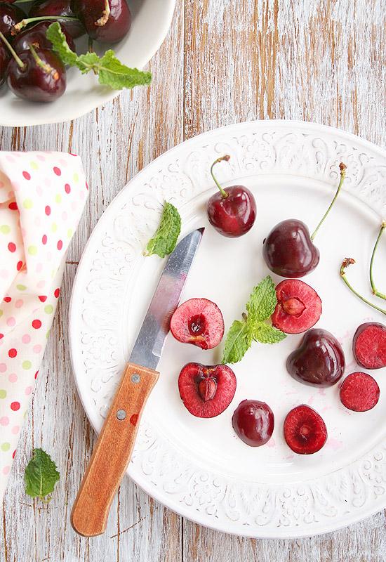 Helado de cerezas
