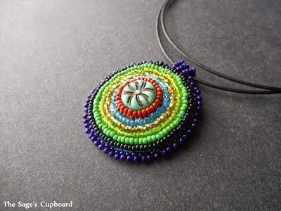 Earthy Blue Medallion Pendant