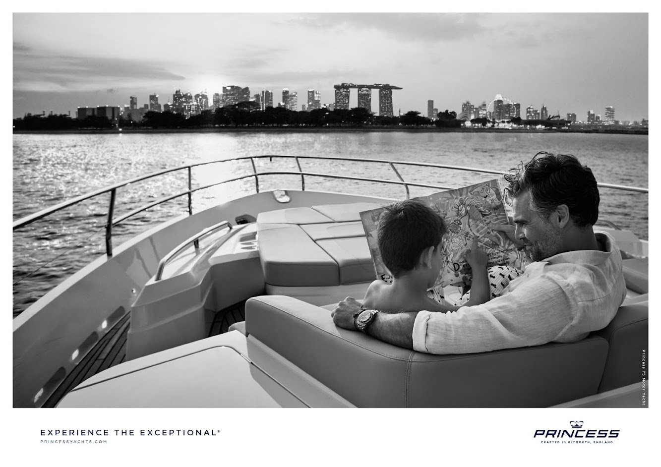 "New work from Amsterdam's BSUR for Princess Yachts ""Experience the Exceptional"""