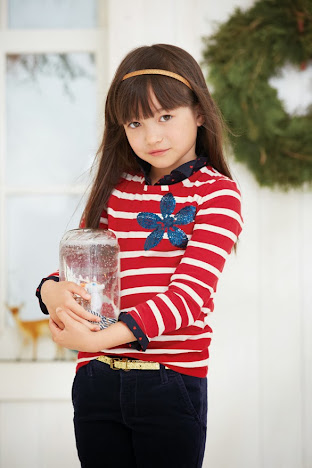 Velvet Skinnies, Sequined Strip Tee, and Accessories from OshKosh B'gosh