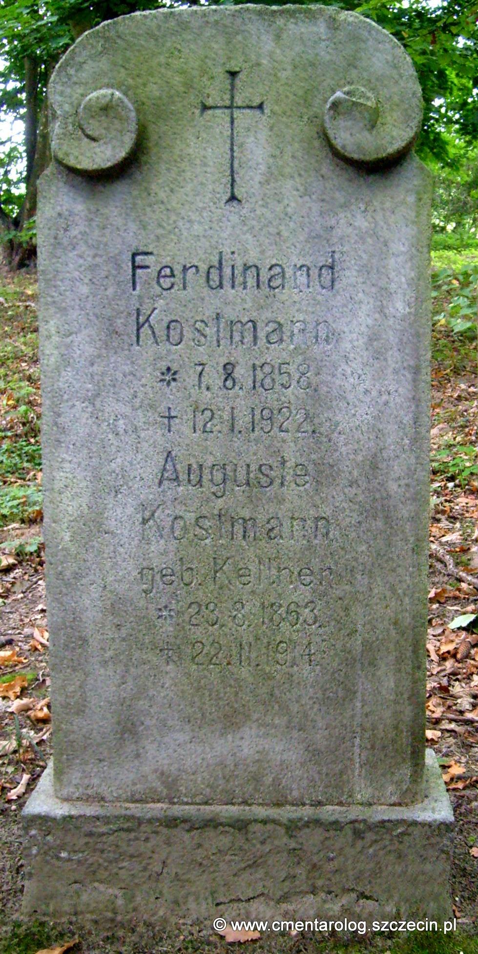 Nagrobek Ferdinanda i Auguste Kostman (fot. Agata Freindorf, 2009)