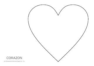 Dibujo del corazón para imprimir, colorear y pintar