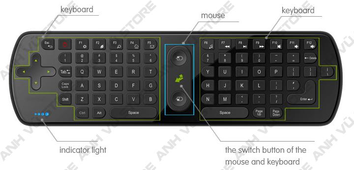 Measy RC11 Bàn phím chuột bay không dây cho Android TV Box 13