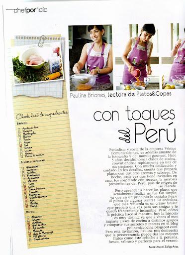 Revista Platos y Copas