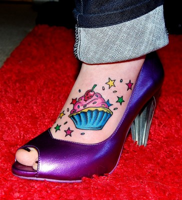 Heart Tattoos For Girls On Foot. my Cupcake Tattoos is this