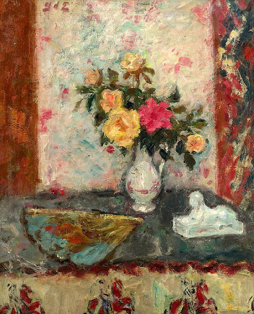 Georges d'Espagnat - Bouquet and Hand Fan