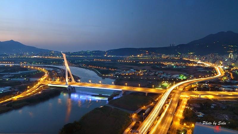 台北 北投焚化爐 社子大橋 夜景 攝