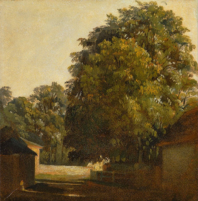 Peter De Wint - Landscape with Chestnut Tree - Google Art Project