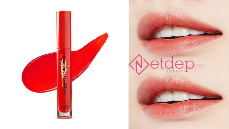 Son Etude House x Red Velvet Shine Chic Lip Lacquer OR202 Tangerine Dance
