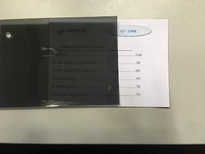 Mẫu phim cách nhiệt Q7-20BK Nano Film