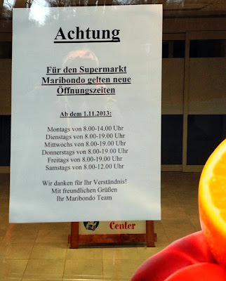 Öffnungszeiten Maribondo-Supermarkt