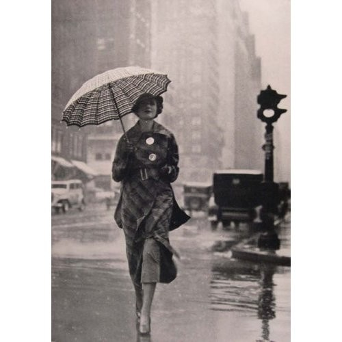 vintage girl umbrella