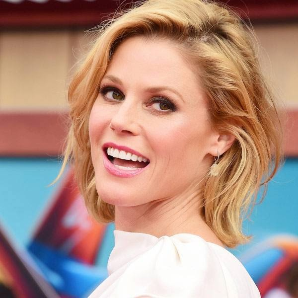 Julie Bowen arrives at the world premiere of 'Planes: Fire And Rescue' at El Capitan Theatre on Tuesday, July 15, 2014, in Los Angeles.
