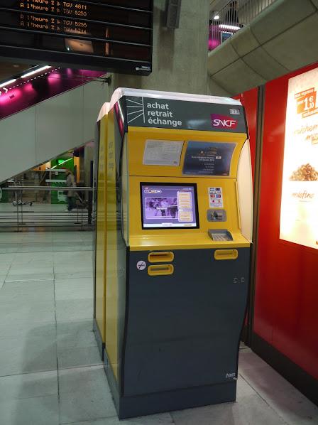 касса железнодорожных билетов во Франции