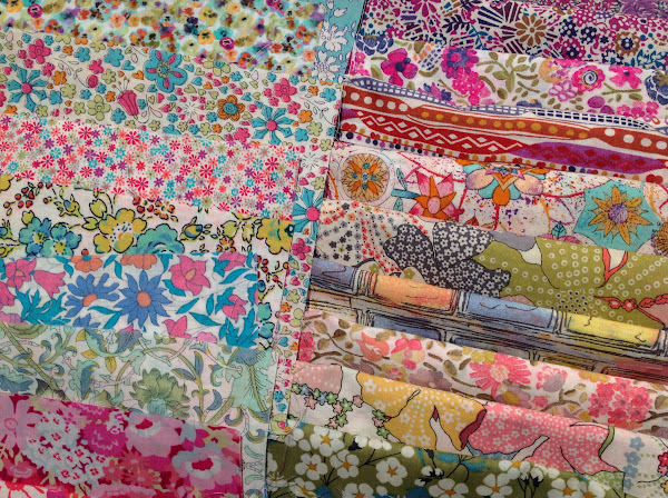 Liberty Fabric Pile by Rhapsody and Thread