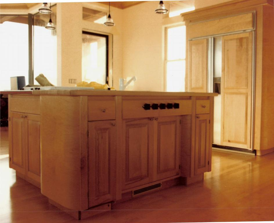 Curved Ends on Custom Rock Maple Kitchen