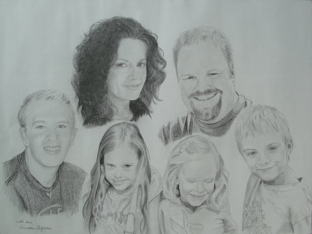 Holly's Family - Original Drawing