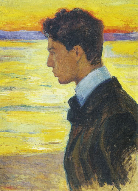 Leonid Pasternak - Boris Pasternak Beside the Baltic at Merekule. 1910