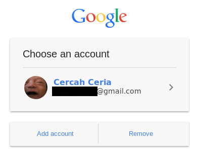 New Google login page