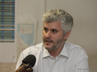 Patrick Vinck a participé à l'élaboration de l'étude « A la recherche d'une paix durable en RDC » Radio Okapi/Ph. John Bompengo
