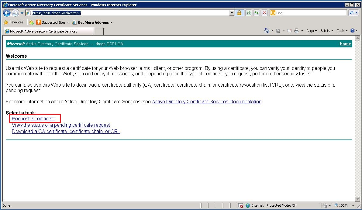 Web server certificate template choice image templates example unified communications with microsoft lync 2010 deployment guide paste our request in the saved request field yadclub Choice Image