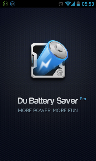 SplashScreen DU Battery Saver