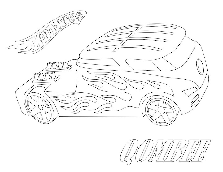 Qombee Hot Wheels Coloring Page
