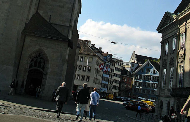 buildings on Zurich street