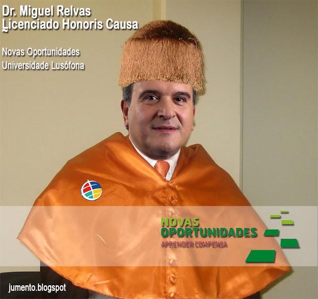 Miguel Relvas doutor honoris causa pelas Novas Oportunidades da Lusófona