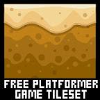 free desert platformer game tileset