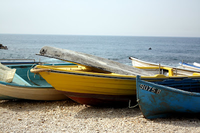 Boats on the Corniche in Beirut Lebanon