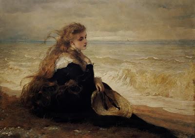 George Elgar Hicks - On the Seashore
