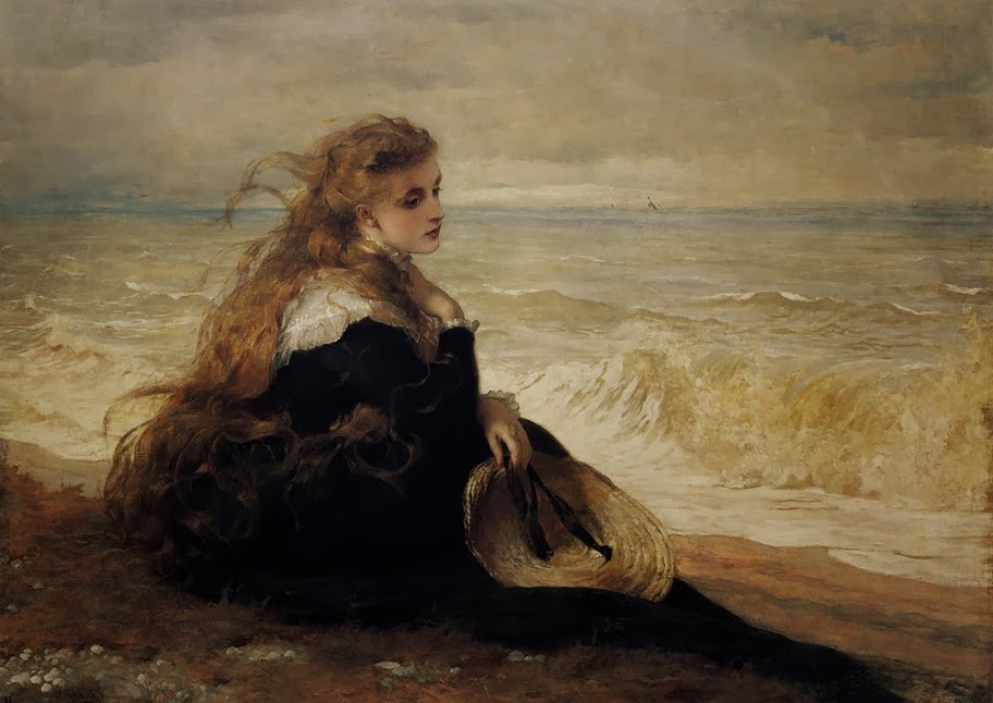George Elgar Hicks - On the Seashore