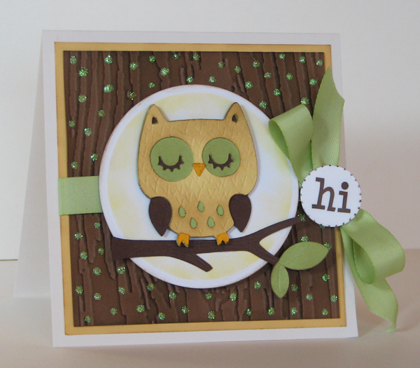 scrapping mommy owl card and fun wall hanging  srm stickers