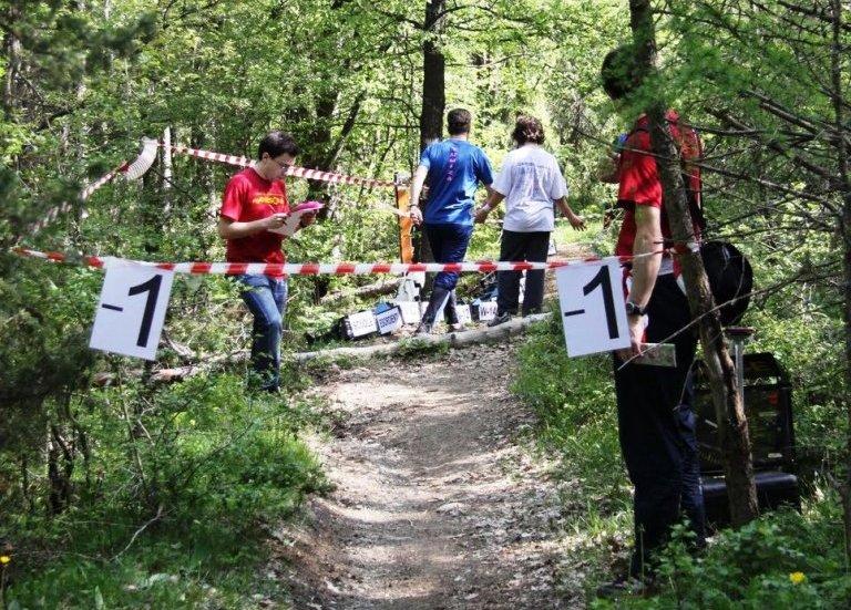 La partenza dell'orienteering