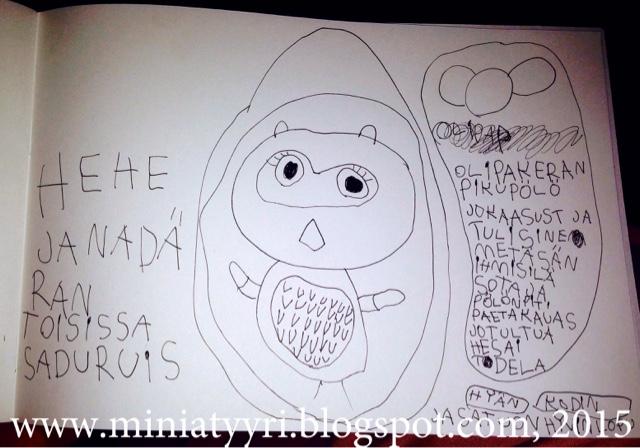 6-vuotiaan lapsen satunovelli pöllöstä - 6-year-old child's fairy tale short story about an owl