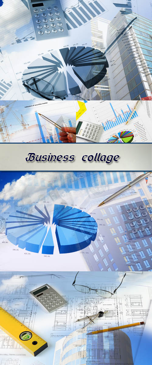 Stock Photo: Business collage 3