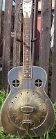 Amistar brass body Resonator Guitar dobro