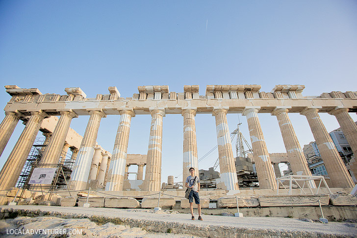 The Parthenon in Athens Greece.