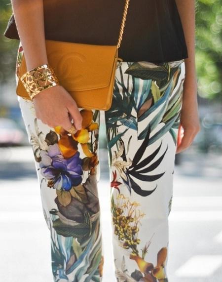 Inspiração estampa tropical - calça
