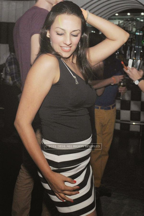Ritu during the party, held at BW club, New Friends Colony.