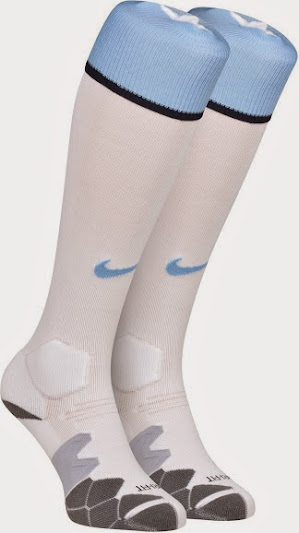 Man City home kit socks 2014