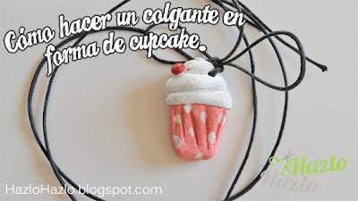 Cómo hacer un colgante en forma de cupcake.