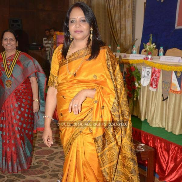 Meeta Shaw at Rotary Club, North Hills' installation ceremony at Haldirams banquet hall in Nagpur.