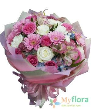 Bó hoa tươi Thơ ngây