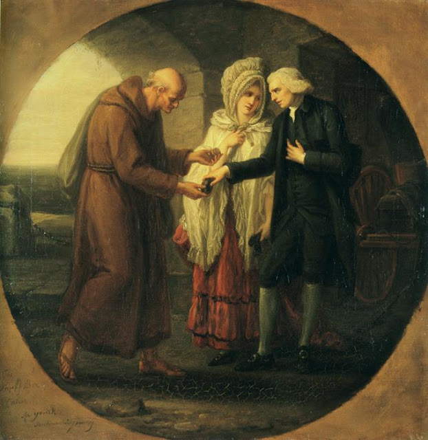Angelica Kauffmann - The Monk of Calais