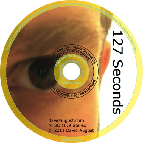 disc art for David August's film '127 Seconds'