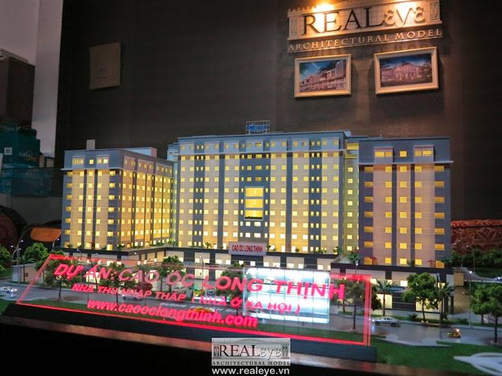 Mô hình kiến trúc REALEYE - Dự án Cao ốc Long Thịnh
