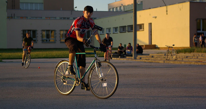 Qavtan gra w bike polo, Lublin.