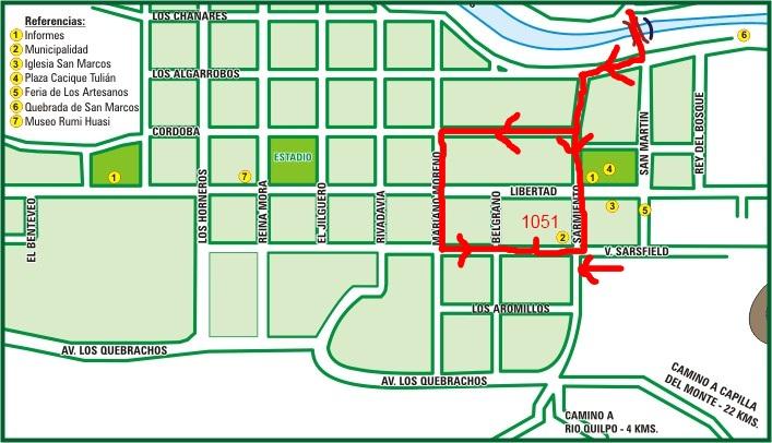 Mapa del Centro
